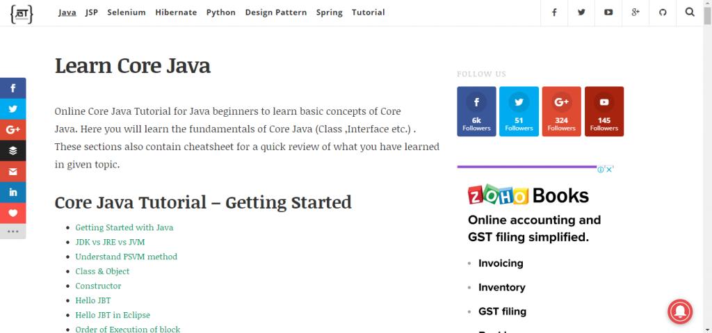 Java Beginners Tutorial