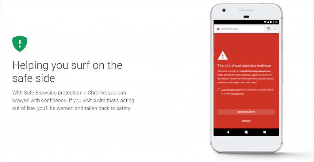 Google Play Protect Web Security