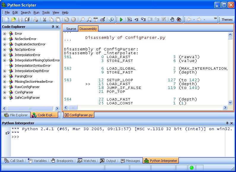 PyScripter IDE