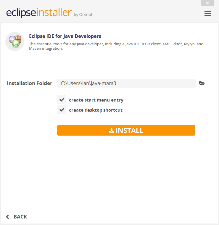 Eclipse for JAVA