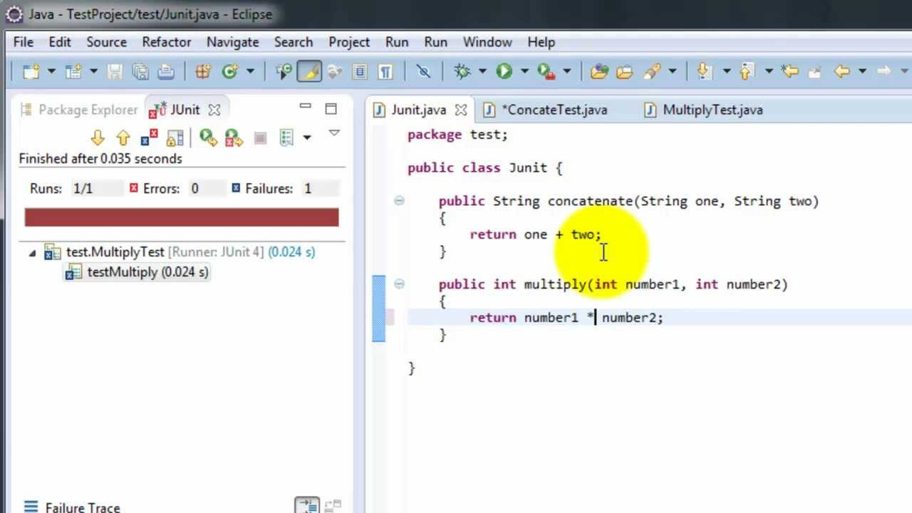 JUnit testing with Eclipse