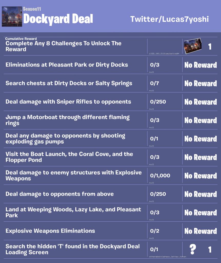 Fortnite week 4 leaked challenges