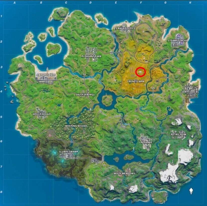 Fortnite letter I location