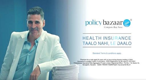 Akshay Kumar in Policybazaar Ad