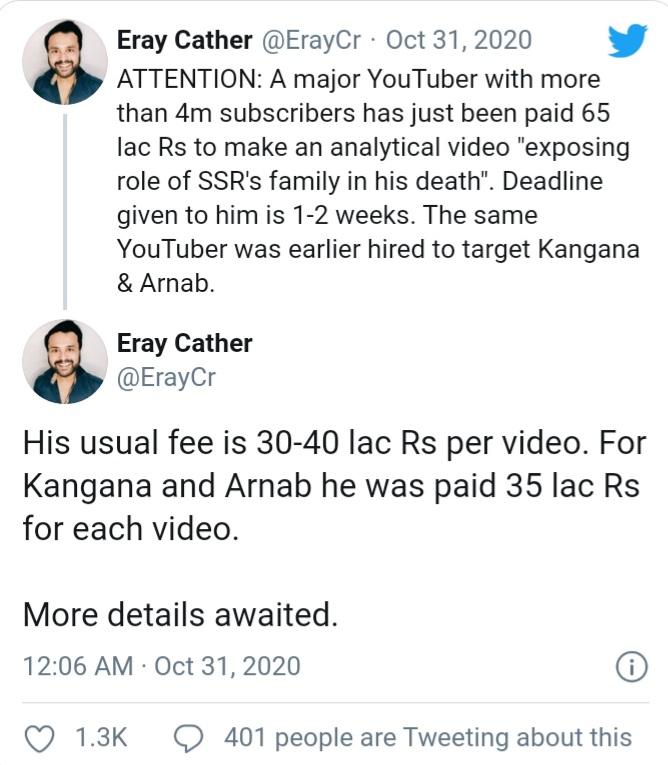 Tweets of Eray Cather