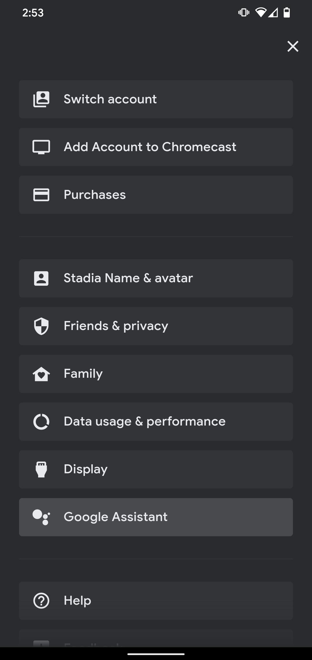 Stadia Google Assistant